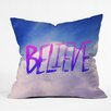 DENY Designs Leah Flores Believe x Clouds Throw Pillow