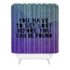 DENY Designs Leah Flores Lost x Found Polyester Shower Curtain