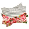 DENY Designs Allyson Johnson Bold Floral and Stripes Pillowcase