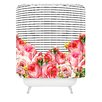 DENY Designs Allyson Johnson Bold Floral and Stripes Polyester Shower Curtain