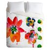 DENY Designs Summer in Watercolor by Laura Trevey Lightweight  Duvet Cover