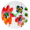 DENY Designs Summer In Watercolor By Laura Trevey Clock