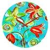 DENY Designs Tangerine Tango By Laura Trevey Clock