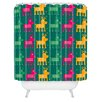 DENY Designs Gabriela Larios Reindeers Shower Curtain
