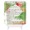 DENY Designs Susanne Kasielke Mistletoe Dictionary Art Shower Curtain