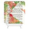 DENY Designs Susanne Kasielke Santa Claus Dictionary Art Shower Curtain