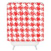 DENY Designs Social Proper Candy Houndstooth Shower Curtain