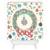 DENY Designs Sam Osborne Christmas Wreath Shower Curtain