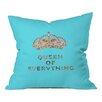 DENY Designs Bianca Green Queen of Everything Indoor/Outdoor Throw Pillow