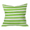 DENY Designs Social Proper Spruce Stripes Throw Pillow