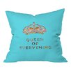 DENY Designs Bianca Green Queen Of Everything Indoor Throw Pillow