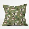 DENY Designs Pimlada Phuapradit Christmas Canine Jack Russell Throw Pillow