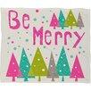 DENY Designs Cori Dantini Let It Snow Christmas Fleece Polyester Throw Blanket