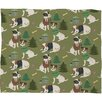 DENY Designs Pimlada Phuapradit Christmas Canine Jack Russell Fleece Polyester Throw Blanket