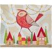 DENY Designs Cori Dantini New Bird In Town Fleece Polyester Throw Blanket