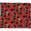 DENY Designs Pimlada Phuapradit Christmas Canine Scottie Fleece Polyester Throw Blanket