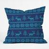 DENY Designs Natt Knitting Deer Throw Pillow
