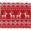 DENY Designs Natt Christmas Deer Fleece Polyester Throw Blanket