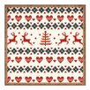 DENY Designs Natt Knitting Deer White Hearts Tray