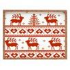 DENY Designs Natt Knitting Deer Tray