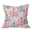 DENY Designs Rachael Taylor Doodle Trees Throw Pillow