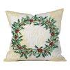 DENY Designs Madart Inc. Holly Wreath Throw Pillow