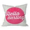 DENY Designs Allyson Johnson Hello Darling Dots Throw Pillow