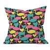 DENY Designs Zoe Wodarz Flamingo Loves Neon Polyester Throw Pillow