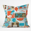 DENY Designs Lucie Rice Throw Pillow