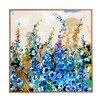 DENY Designs Delphiniums Jardin Bleu by Ginette Fine Art Framed Painting Print