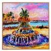 DENY Designs Pineapple Fountain Charleston Sc by Ginette Fine Art Framed Painting Print