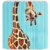DENY Designs Coco De Paris Giraffe With Leaf Shower Curtain
