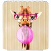 DENY Designs Coco De Paris Clever Giraffe With Bubblegum Shower Curtain