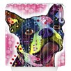DENY Designs Dean Russo Boston Terrier Shower Curtain