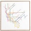 DENY Designs 'Nyc Subway Map' by Restudio Designs Framed Wall Art