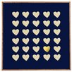 DENY Designs 'Gold Heart' by Leah Flores Framed Graphic Art