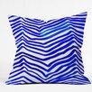 DENY Designs Rebecca Allen Zebra In Crete Indoor/Outdoor Throw Pillow