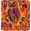 DENY Designs Renie Britenbucher Owl Orange Batik Shower Curtain