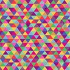 DENY Designs Bianca Green Love with Triangles Shower Curtain