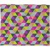 DENY Designs Bianca Green Ocean of Pyramid Throw Blanket