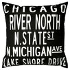 Uptown Artworks Chicago Throw Pillow