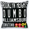 Uptown Artworks Downtown Brooklyn Throw Pillow