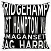 Uptown Artworks Hamptons 4 Line Throw Pillow