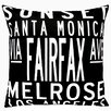 Uptown Artworks Los Angeles Throw Pillow