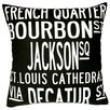 Uptown Artworks New Orleans Throw Pillow