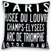 Uptown Artworks Paris Landmarks Throw Pillow