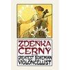 Buyenlarge 'Zdenka Cerny: The Greatest Bohemian Violoncellist' by Alphonse Maria Mucha Vintage Advertisement