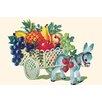 Buyenlarge 'Donkey Fruit Cart' Painting Print