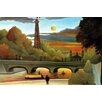 Buyenlarge Eiffel Tower at Sunset by Henri Rousseau Painting Print