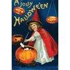 Buyenlarge 'A Jolly Hallowe'en' by Ellen M. Clapnoddle Vintage Advertisement